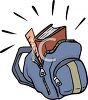 Books in a Book Bag clipart