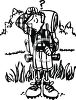 Cartoon of a Lost Hiker clipart