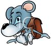 Cute Little Mouse Wearing a Backpack clipart