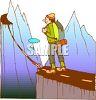 Man Standing on the Edge of a Precipice clipart