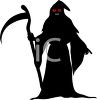 Death - The Grim Reaper with Scythe or Sickle clipart