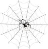 Black Widow Spider on Spider Web clipart
