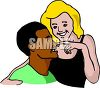 Happy Interracial Couple in Love clipart