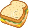 Sandwich With Lunch Meat clipart