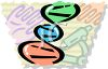 DNA Double Helix - Medical Research clipart