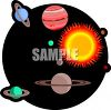 Planets of the Solar System and The Sun clipart