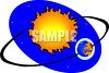 The Earth and Sun clipart