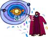 Nicolaus Copernicus and The Solar System clipart