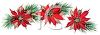 Poinsettias with Greenery clipart