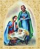 Mary and Joseph with Baby Jesus Nativity Scene clipart