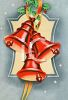 Red Christmas Bells Design clipart