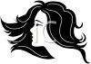 Beautiful Woman with Flowing Hair clipart
