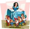 Snow White and the Dwarfs clipart