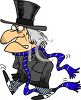Cartoon of an Old Miser Scrooge clipart