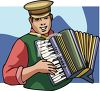 Man Playing an Accordion clipart