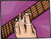 Fingers on a Fret Board of a Guitar  clipart