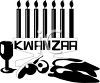 Candles and Food for the African Celebration of Kwanzaa clipart