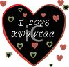 Heart with I Love Kwanzaa Message clipart