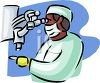 African American Man Doing Medical Research clipart