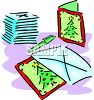 Christmas Cards and Envelopes clipart