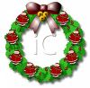 Christmas Santa Wreath clipart