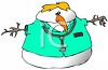 Occupations- Snowman Doctor Wearing Scrubs clipart