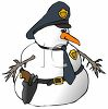 Occupations-Snowman Policeman clipart