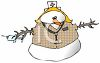 Occupations-Nurse Snow Woman clipart