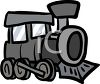 Toy Train Engine clipart