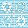 Digital Collage of Snowflakes clipart