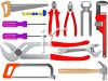 Tools Including Saws, Pliers, Wrenches, Screwdrivers and a Hammer clipart