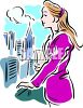 Young Woman Who Lives In The City clipart
