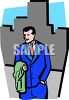 Well Dressed Businessman in the City clipart