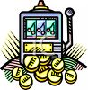 Slot Machine with a Winning Jackpot of Coins clipart