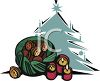 Christmas Tree and a Bag of Chestnuts clipart
