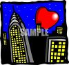 The Big Apple, New York City clipart