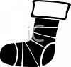 Silhouette of a Christmas Stocking clipart