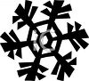 Silhouette of a Snowflake Design Element clipart