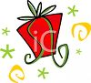 Stylized Gift with a Bow clipart