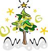 Stylized Christmas Tree Design clipart