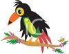 Cartoon Tropical Toucan Bird clipart