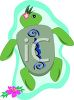 Tropical Sea Turtle clipart