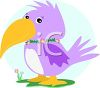 Cartoon Tropical Bird clipart