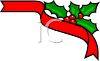 Christmas Holly Corner Border clipart