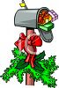 Mailbox Filled with Christmas Gifts and Packages clipart
