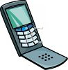 Old Style Flip Phone clipart