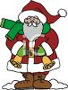 Cute Cartoon Santa Ringing Bells to Collect Charity clipart