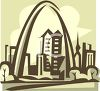 St Louis and the St Louis Arch clipart