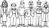 People of Various Occupations Dressed for Work clipart