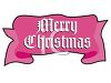 Merry Christmas Banner in the Shape of a Ribbon clipart